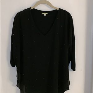Gianni Bini Black Blouse